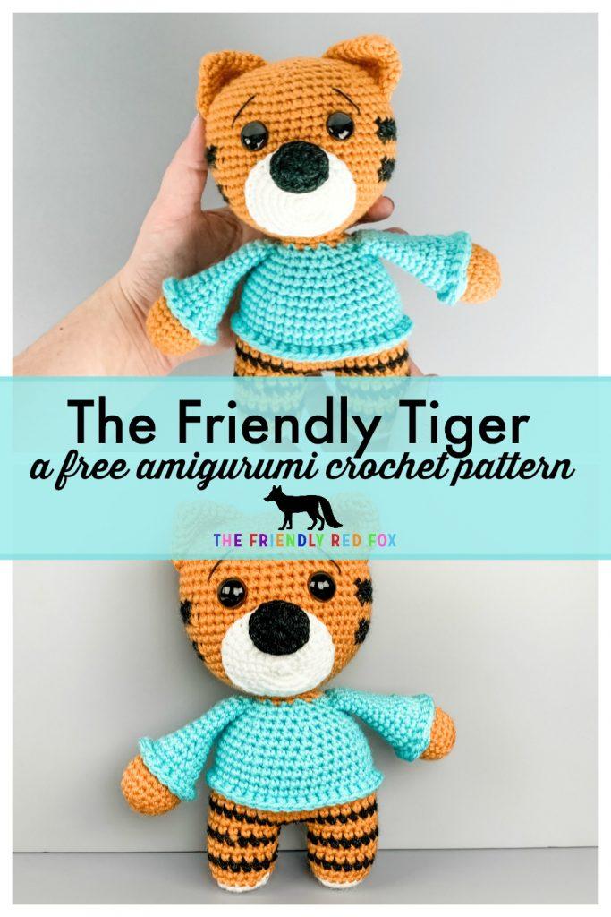 Häkelanleitung Machli the Tiger crochet amigurumi tiger | Etsy | 1024x683
